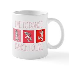 Live To Dance Red Mug