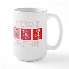 Live To Dance Red Large Mug