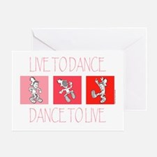 Live To Dance Red Greeting Card