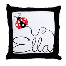 Ladybug Ella Throw Pillow