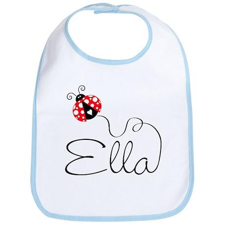 Ladybug Ella Bib