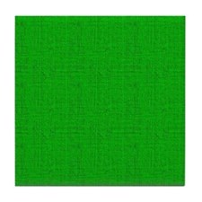 Green Linen Look Tile Coaster