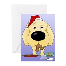 Yellow Lab Santa Greeting Cards (Pk of 20)