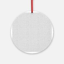 Gray Linen Look Ornament (Round)
