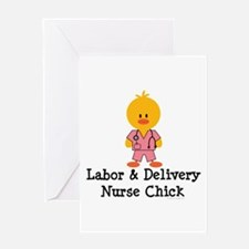 Labor and Delivery Chick Greeting Card