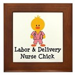 Labor and Delivery Chick Framed Tile