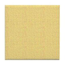 Yellow Linen Look Tile Coaster