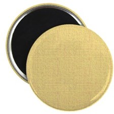 "Yellow Linen Look 2.25"" Magnet (10 pack)"