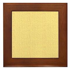 Yellow Linen Look Framed Tile