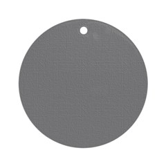 Dark Gray Linen Look Ornament (Round)