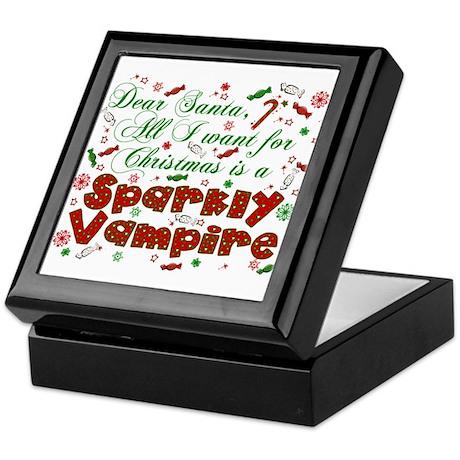 Dear Santa Sparkly Vampire Keepsake Box