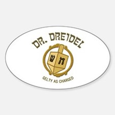 Dr. Dreidel - Oval Decal