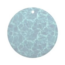 Blue Water Look Ornament (Round)