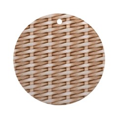 Brown Wicker Look Ornament (Round)