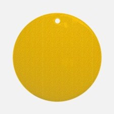 Gold Satin Look Ornament (Round)