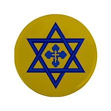 "Star of David/Orthodox Cross 3.5"" Button"