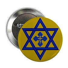 "Star of David/Orthodox Cross 2.25"" Button"