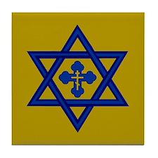 Star of David/Orthodox Cross Tile Coaster