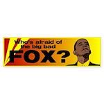 Afraid of Fox Bumper Sticker (10 pk)