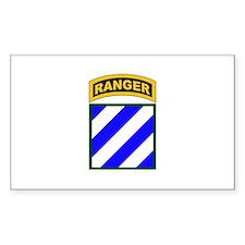 3rd Infantry Div Ranger Tab Rectangle Decal