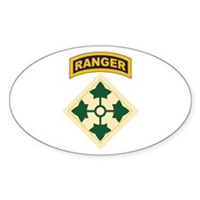 4th Infantry Div with Ranger Oval Decal