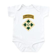 4th Infantry Div with Ranger Infant Bodysuit