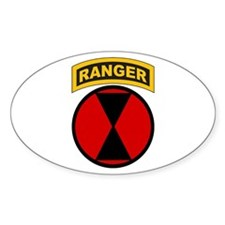 7th Infantry Div with Ranger Oval Decal