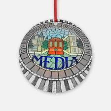 Media, PA 19063 Ornament (Round)