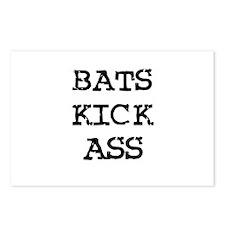 Bats Kick Ass Postcards (Package of 8)