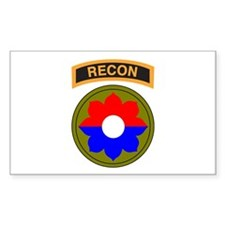 9th Infantry Div with Recon T Rectangle Decal