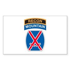 10th Mountain Div with Recon Rectangle Decal