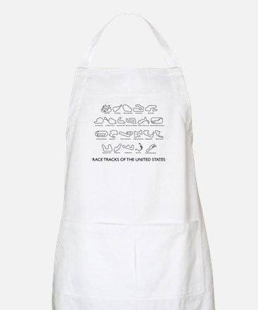 Race Tracks of the United States BBQ Apron