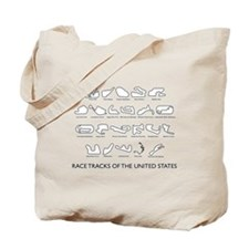 Race Tracks of the United States Tote Bag