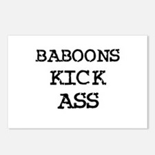 Baboons Kick Ass Postcards (Package of 8)