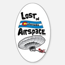 Balloon Boy Lost In Space Oval Decal