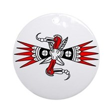 Southeastern Woodpecker Motif Ornament (Round)