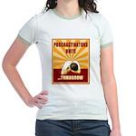 Procrastinators Unite Tomorrow Jr. Ringer T-Shirt