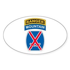 10th Mountain Div with Ranger Oval Decal