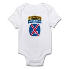10th Mountain Div with Ranger Infant Bodysuit