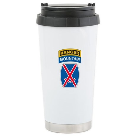 10th Mountain Div with Ranger Stainless Steel Trav