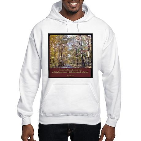 Proverbs 4:26 Hooded Sweatshirt