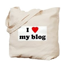 I Love my blog Tote Bag