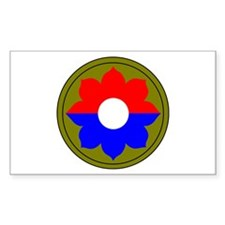 9th Infantry Division Rectangle Decal