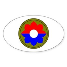 9th Infantry Division Oval Decal
