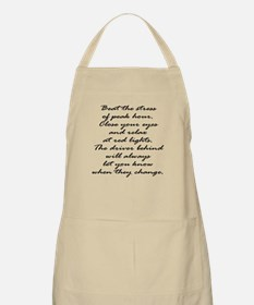Close your eyes at lights BBQ Apron