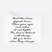 Close your eyes at lights Greeting Card