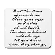 Close your eyes at lights Mousepad
