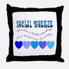 Social Worker III Throw Pillow