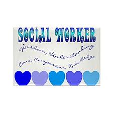 Social Worker III Rectangle Magnet (100 pack)