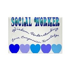 Social Worker III Rectangle Magnet